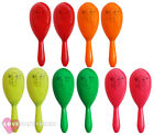 24 X PAIRS NEON MARACAS MEXICAN FANCY DRESS PARTY ACCESSORIES NOVELTY PROP