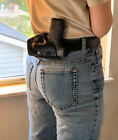 Small of Back Holster for M&P Shield, 9mm & .40, SoB,  Leather Deep Concealment