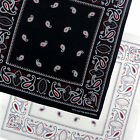 New Mens Bandana Boys Cotton Paisley Black White Bandanna Scarf Festival Urban