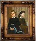Degas The Bellelli Sisters Giovanna and Giuliana Wood Framed Canvas Repro 8x10