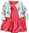 CARTERS Baby Girl Dress Cardigan 2pc Set Newborn 3 6 9 12 18 24 Month Floral New