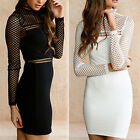 Sexy Women Ladies Hollow Out Bodycon Cocktail Evening Party Short Mini Dress New