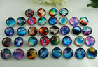 Handmade DIY gift 18mm alloy-Glass chunk snap button fit nosa bracelet charm #3