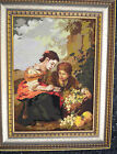 Picture With Frame, Tapestry, Embroidery, German Handmade, Vintage, 60/70-er J