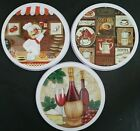 """STOVE BURNER COVERS Two Covers/Pk (8""""&10""""), SELECT: Coffee, Chef or Wine"""