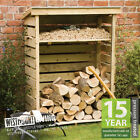 NEW 4FT 7FT OUTDOOR LOG STORE WOODEN GARDEN WOOD STORES PRESSURE TREATED