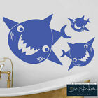 Wall Stickers Shark Fish Animal Sea Ocean Bathroom Boy Kids Art Decal Vinyl Room