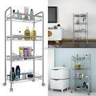 4-Tier Rolling Cart Organization with Wheels Net Basket Storage Cart EFFU 01