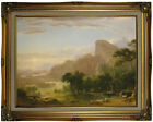 Durand Landscape Scene from Thanatopsis Wood Framed Canvas Print Repro 18x24