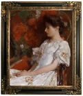 Hassam The Victorian Chair 1906Framed Canvas Print Repro 20x24