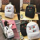 2017 Embroidery Bag Shoulder Bag Retro Rose Flower Girl Backpack Canvas Bag