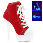 "Sport Sexy Exotic Dancer Clubwear Ankle Boots 6"" Plat. Pleaser DELIGHT-600SK-02"