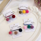 Lovely Candy Color Plush Ball Safety Pins Brooch Needle Jewelry Sewing 1PC