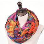 New Women Mixed Color Oil Painting Infinity Scarf Voile Nursing Cover Neck Wrap