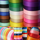 "22 Meters Reel Premium Quality 10mm 3/8"" Width Single Faced Sided Satin Ribbons"
