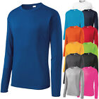 Mens Long Sleeve T-Shirt Base Layer Moisture Wicking Workout Dri-Fit XS-4XL NEW image