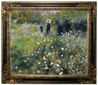 Renoir Woman with a Parasol in a Garden 1875 Framed Canvas Print Repro 20x24