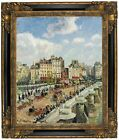 Pissarro The Pont-Neuf 1902 Framed Canvas Print Repro 16x20