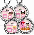 I Love Cooking Kid's Bottle Cap Necklace Handcrafted Kid's Cooking Family Fun