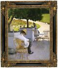 Caillebotte The Orange Trees 1878 Framed Canvas Print Repro 16x20