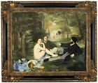 Manet Luncheon on the Grass 1863 Framed Canvas Print Repro 16x20