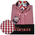 Warrior UK England Button Down Shirt GOVER Hemd Slim-Fit Skinhead Mod