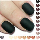 Matte Petite Fake False Press On Nails Black White Nude Grey Burgundy Mauve