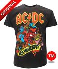 T-SHIRT ROCK MAGLIA ORIGINALI  HARD ROCK AC/DC ARE YOU READY BAND NERA TSHIRT