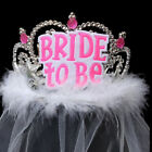 Внешний вид - White Black Bride To Be Veil Bridal Crown Bachelorette Hen Event Party Supplies