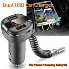 Universal 5V 3.4A Dual USB Port Car Quick Charger Adapter LED Display For Phone