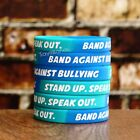anti bullying wristbands - 5 Band Against Bullying Wristbands - Debossed Silicone Anti Bully Bracelet Set