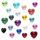 14.4 x 14mm (Any Colors) Genuine Swarovski Pendant Heart 6228 Crystal Rhinestone