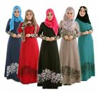 Muslim Kaftan Abaya Jilbab Islamic Long Sleeve Cocktail Maxi Vintage Dress