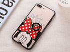 Minnie mickey Mouse with finger ring Clear hard Case For Apple iPhone 8 8Plus
