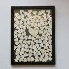 Personalized Black Wooden Frame Wedding Guest Book Drop Top Frame 120pc  Hearts