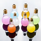 Plastic Light Bulb Shaped Bottle Drink Cup Water Bottle Party Home Decor New