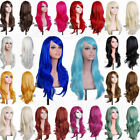 Hot Layered Straight Curly Cosplay Wig Long Wavy For Women Halloween Costume CP2