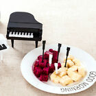 9Pcs Fruit Forks Mini Piano Design Fruit Dessert Forks Home Decor Tableware Set