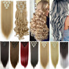 Ombre Hair Extensions Long Wavy Straight Clip In Hair Extensions New Thick TR9