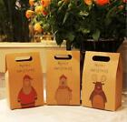 10/20/50Pcs Merry Christmas Candy Boxes Brown Kraft Paper Party Gift Decor Bags