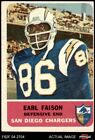 1962 Fleer #87 Earl Faison Chargers VG $14.0 USD on eBay