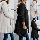 Women Long Sleeve Warm Loose Knitted Sweater Jumper Cardigan Outwear Coat