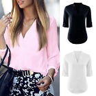 Women's Lady Summer Loose Tops Long Sleeve Shirt Casual Blouse T-shirt Fashion