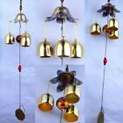 Chinese Retro Living Wind Chimes Tubes Bells Copper Yard Garden Outdoor Decor