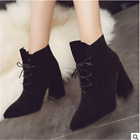 Womens Winter Warm Faux Fur Ankle Boots Thick Heel Casual boots