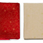 LUXURY CHRISTMAS STARS TABLECLOTH AND NAPKINS - ANTI STAIN TREATMENT