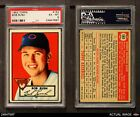 1952 Topps #153 Bob Rush Cream Back Cubs PSA 6 - EX/MT