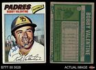 1977 Topps #629 Bobby Valentine -  Padres Autograph