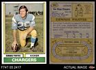 1974 Topps #503 Dennis Partee Chargers EX/MT