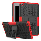 Hybrid Shockproof Rubber Hard Case Cover Stand For Amazon Kindle Fire 7/HD8 2017
